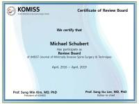 Dr. Schubert Board-Mitglied der KOMISS