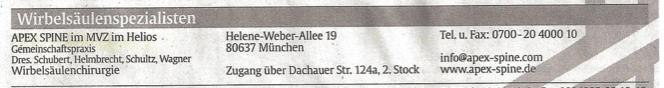 Abendzeitung Rückenreport